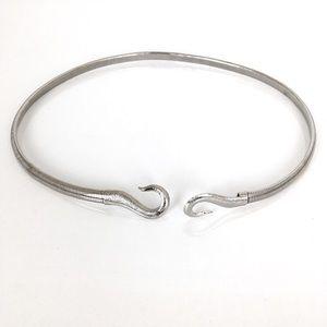 Vintage Thin Silver Tone Stretch Belt
